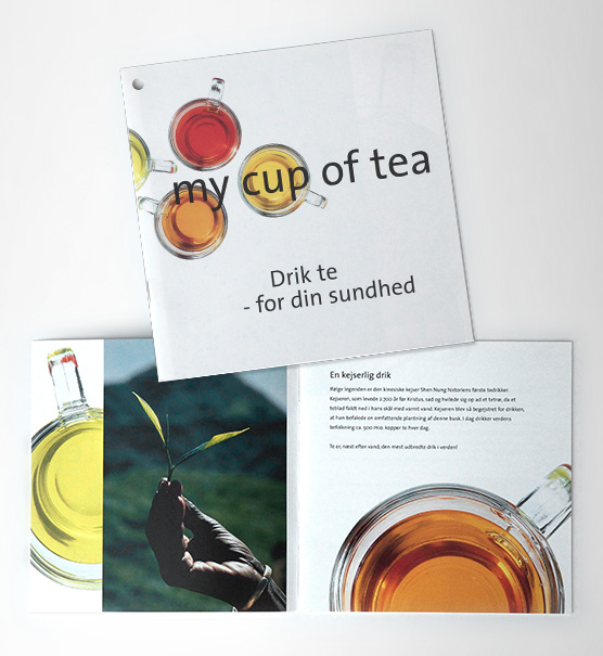POS materiale, tryksager: folder for Lipton Te